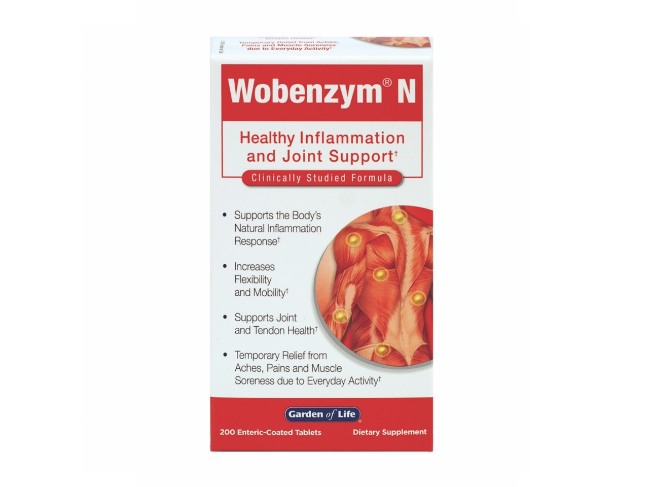 Garden Of Life Wobenzym N Systemic Enzymes 200 Tablets
