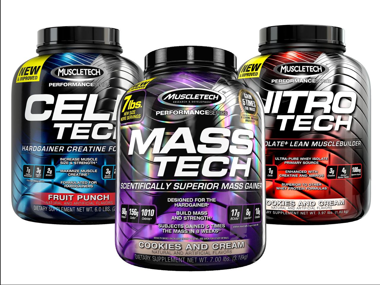Muscletech Performance Stack Nitro Tech Cell Tech Mass
