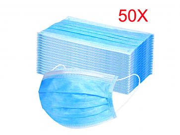 Mundschutz 3 lagig, latexfrei Atemschutz Einweg Maske Hygieneschutz 50St.