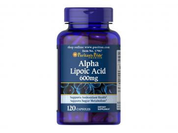 Puritan's Pride ALA Alpha Lipoic Acid 600 mg