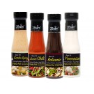2Bslim Mix Box lowcarb Dressings und Saucen NEU SORTEN, Variety Pack, Probier Set, (4 x 250ml)