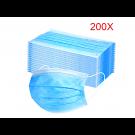 Mundschutz 3 lagig, latexfrei Atemschutz, Bulk Pack 2000 St., Großgebinde, Klinikpackung