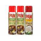 PAM Original (3-Pack) 2x PAM Olive Oil, 1x PAM Coconut Oil