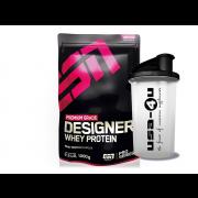 ESN Designer Whey Protein Pro Series 1kg Beutel + gratis Shaker