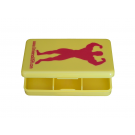 Universal Nutrition Red Man Pill Case Yellow